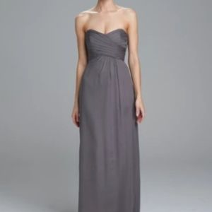 Amsale Strapless Navy Bridesmaid Dress